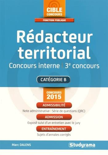 Rédacteur territorial, concours interne par Marc Dalens