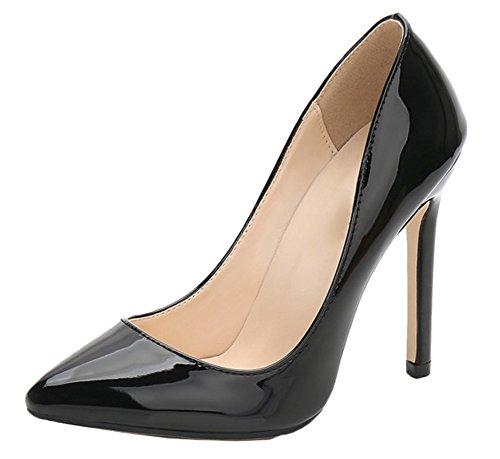 Snone scarpe col tacco donna tacchi alti scarpe super tacchi alti elegante tacco fine ol scarpe in pelle verniciata partito tacco grosso scarpe da sera oversize moda