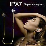 Flying Colourz MORUL U5 Plus-Wasserdicht IPX7 Wireless Stereo Bluetooth Kopfhörer HiFi Voice-Headset Gelb