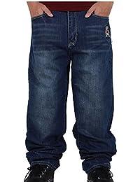 Ghope Homme Hip Hop Baggy Jeans Loose Street Style Denim Long Combat Pantalons Denim
