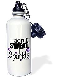statuear I Don 't el sudor I sparkle aluminio 20oz 600ml Deportes botella de agua regalo