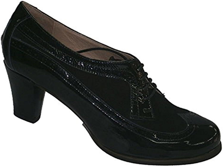 Roldan Hochhackige Schuhe mit Schnürsenkeln und Lackleder schwarz