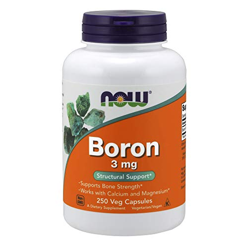 Now Foods Boron, 3Mg - 250 Caps - 250 Cápsulas