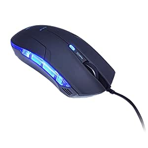 E-3LUE Brand New Cobra Shape Wired Optical Gaming mouse Mice+USB Wired Interface Black for Gamers