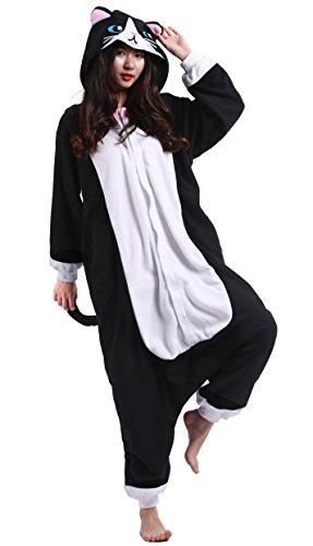 Unisexe Adulte Animal Cosplay Kigurumi Pyjama pour taille 160-175 cm - Chat Noir