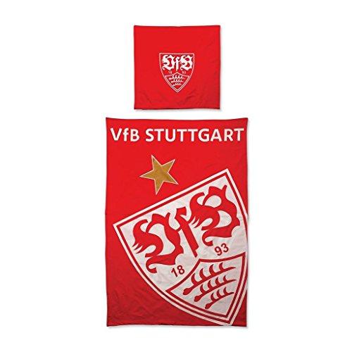 VfB Stuttgart Glow Bettwäsche (one size, rot) (Wappen Bettdecke)