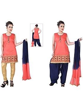 Dritto Usura Si Adatta Alle Donne Partito Delle Signore Punjabi Patiala Salwar Vestito Indiano Pakistano Casuale...