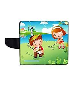 KolorEdge Printed Flip Cover For Asus Zenfone Selfie ZD551KL Multicolor -(1479-55KeMLogo09479ZenSelfie)