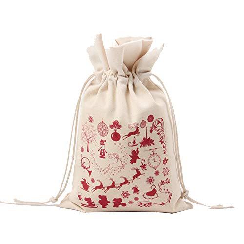 Weihnachtskreativer Geschenktasche Kordelzug Nr. 6, Malloom Weihnachtskleine Geschenk-Tasche, die Kordelzug-Strahl-Port-Speicher-Beutel-Geschenk-Beutel druckt