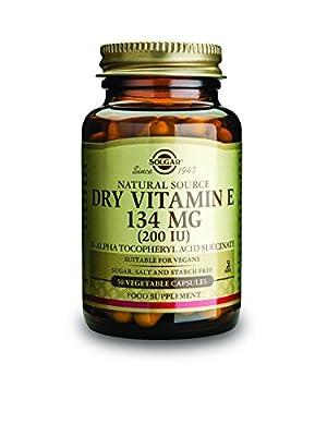 Solgar 134 mg Dry Vitamin E Vegetable Capsules - Pack of 50 by Solgar