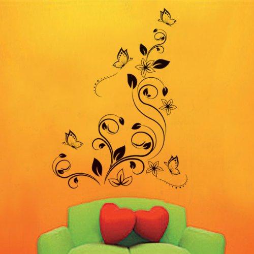 Bestofferbuy calcoman a dibujo de enredadera y mariposas for Accesorios decorativos para cocina