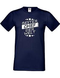 ShirtInStyle Männer T-Shirt Bester CHEF der Welt,,viele Farben, Größe S-XXXL