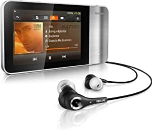 """Philips GoGear SA3MUS16S/37 16Go Noir, Argent lecteur et enregistreur MP3/MP4 - lecteurs et enregistreurs MP3/MP4 (Noir, Argent, Lecteur flash, 16 Go, LCD, 8,13 cm (3.2""""), 480 x 320 pixels)"""
