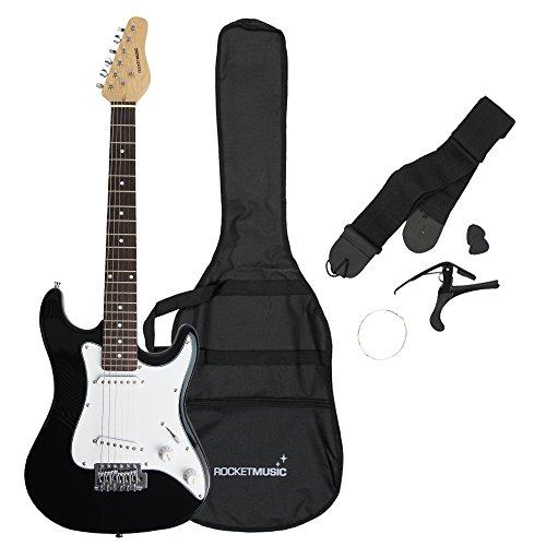 Rocket Music XF203CBK XF Serie 3/4 E-Gitarre schwarz