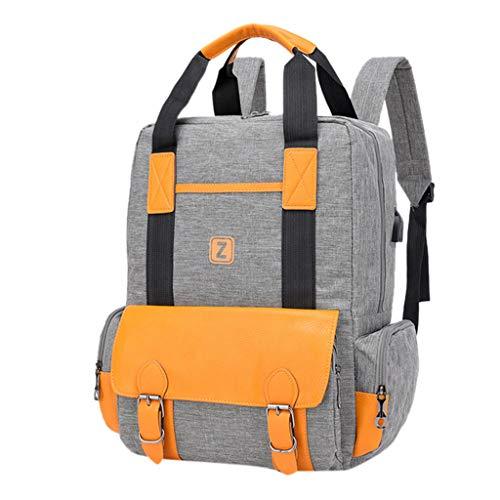 CryLee Paar Mode Tasche große Kapazität Computer Tasche Student Rucksack Umhängetasche Damen Laptop Rucksack, Wasserabweisend & Diebstahlschutz Roll Top Rucksack...