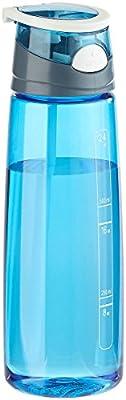 PEARL sports BPA-freie Kunststoff-Trinkflasche mit Einhand-Verschluss, 700 ml, blau