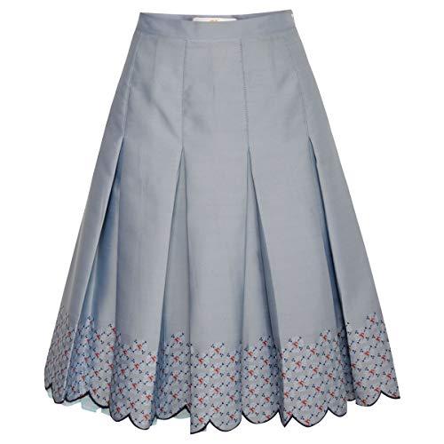 Almsach Damen Trachten-Mode Rock Bethi in Hellblau traditionell, Größe:46, Farbe:Hellblau