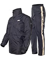 aiqi mujeres y hombres impermeable y impermeable y pantalones traje impermeable pesca motocicleta impermeable para hombre, hombre mujer, azul marino