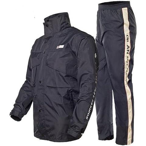 AIQi donna-uomo impermeabile e Pantaloni tuta da pioggia per moto, Giacca impermeabile da pesca