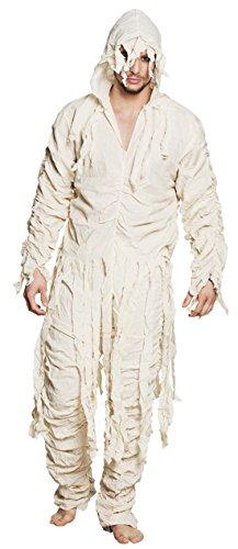 chamboolee - Herren Männer Mumie Ägyptische Mumie Kostüm Verband Overall, L/XL, Beige