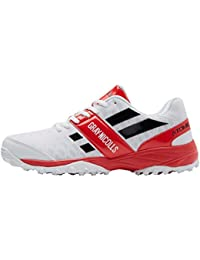 Grays Gray-Nicolls Atomic rubber-soled scarpa da cricket Junior, Rosso
