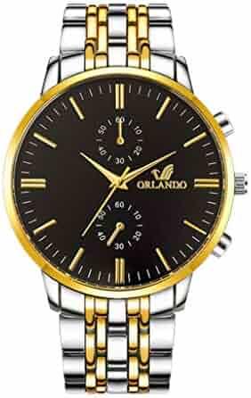 FGHYH Men's Watch Luxury Men's Quartz Watches Men Business Male Watch, Bracelet