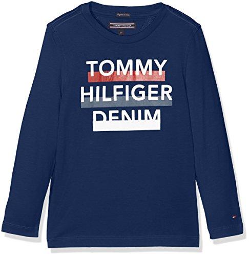 Tommy Hilfiger Jungen Langarmshirt, Blau (Estate Blue 484),110 (Herstellergröße:5 Jahre) (Tommy Hilfiger Kinder)