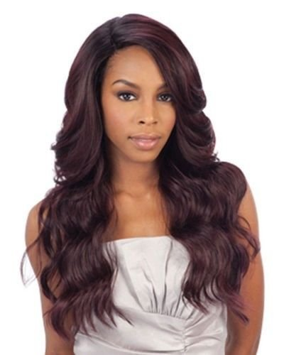 DANITY(2 Dark Brown) - FREETRESS EQUAL DEEP INVISIBLE 'L' PART LACE FRONT WIG by FREETRESS EQUAL