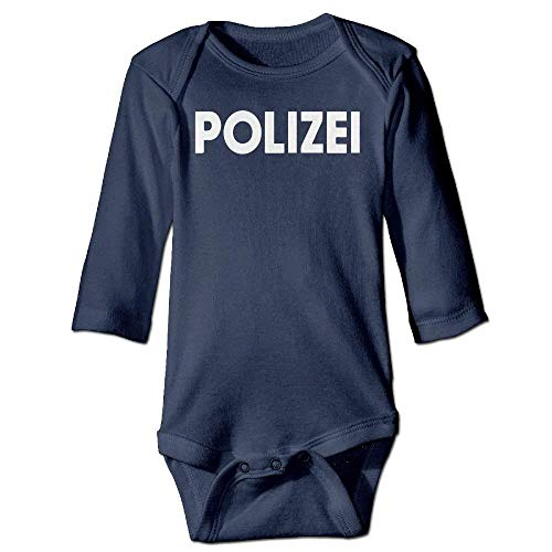 VTXWL Unisex Newborn Bodysuits Polizei Girls Babysuit Long Sleeve Jumpsuit Sunsuit Outfit Navy Gap Short Sleeve Romper