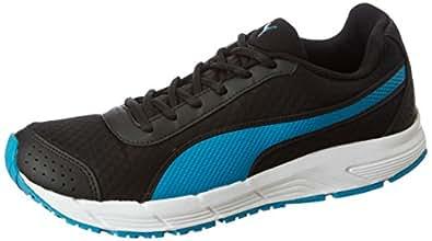 Puma Men's Rapple Black-Hawaiion Ocean-White Running Shoes - 10 UK/India (44.5 EU) (36483405)