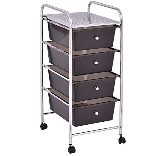 costway rollwagen mit schubladen rollcontainer badrollwagen badtrolley badregal beistellwagen. Black Bedroom Furniture Sets. Home Design Ideas