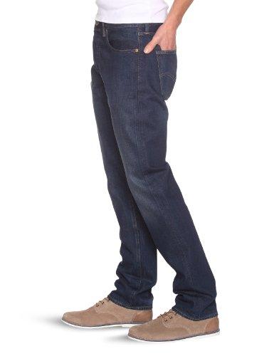 Levi's Herren Jeanshose 501 Original Straight Blau (Rock Face - Indigo Tracks W/O Crackle 1438)