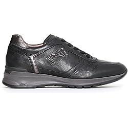 Nero Giardini Donna Sneakers Nere o Marroni A719220D Scarpe Pelle Inverno 2018