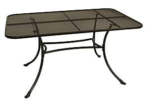 streckmetall tisch rivo 90x145cm mit stabilem rundrohrgestell eisengrau. Black Bedroom Furniture Sets. Home Design Ideas