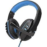 QUICKLYLY Auriculares Gaming PS4,Cascos Gaming, Auriculares Cascos Mac Estéreo Micrófono Juego Headset Jack