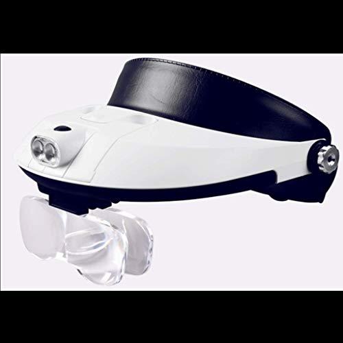 Kopf-angebrachte Lampe der Vergrößerungsglas-LED alte Lesekind-Kursteilnehmer, die HD-Multifunktionsarbeitskräfte erlernen, reparieren Handy-Computer-Borduhr-Gläser der elektronischen Schalt