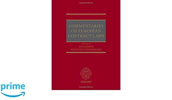 Commentaries on European Contract Laws: Amazon co uk: Nils