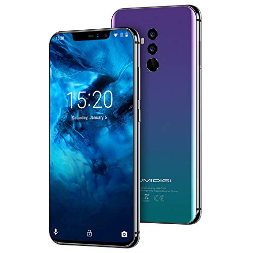 "UMIDIGI Z2 Pro, Smartphone da 6.2"" Dual SIM 4G Android 8.1, Helio P60 Octa-Core, 6GB+128GB, Quad Camera 16MP+8MP, Face Unlock, NFC, Caricatore Wireless da 15W Compatibili con Lo Standard Qi- Twilight"