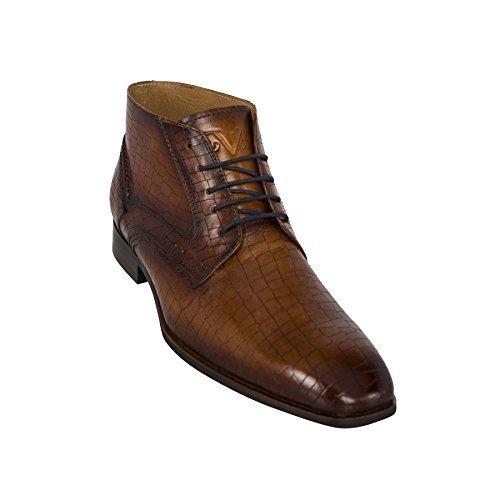 19V69 Chelsea Boots Kroko-Style V46 (Modell: C143 - Herren, braun; Größe: 42) FBA