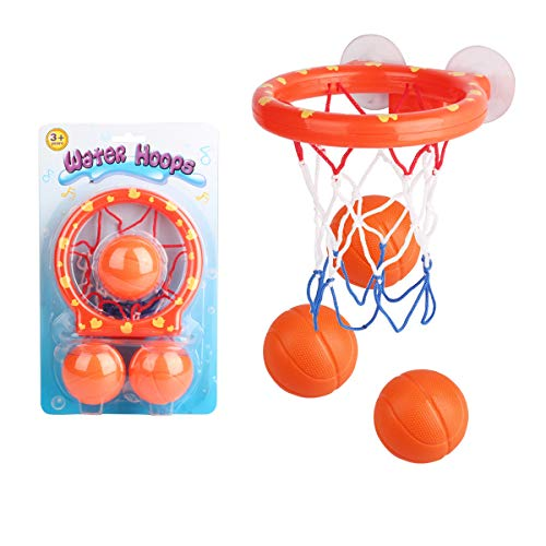 HE ZE Bath Toys Fun Basketball Toys Set,Bathroom Bathtub Shooting Game Bath Toys,Little Boys Girls Gifts