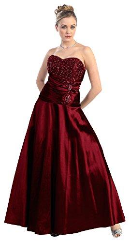 Nachtigall+Lerche Abendkleid lang Luxus Ballkleid A-Linie Abiballkleid Brautjungfernkleid...