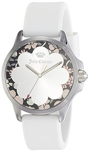 Juicy Couture Damen Datum klassisch Quarz Uhr mit Silikon Armband 1901568 (Juicy Couture Damen-uhren)