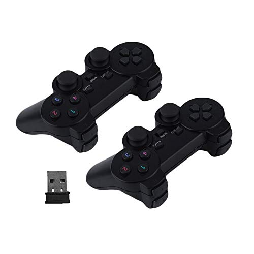 Clover 2X 2.4G USB Wireless Dual Vibration Gamepad Controller Joystick for PC Laptop Clover Electronics Usb