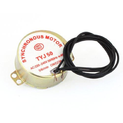 sourcingmap® AC 220 V - 240 V, 50/60 Hz (DE) 6RPM 5 4W Schaft 7 mm Dia Fan Synchronmotor