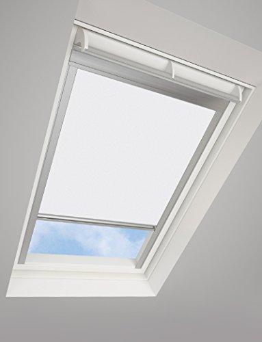 Tende avvolgibili da tetto darkona ® per le finestre da tetto velux - tenda avvolgibile oscurante - molti colori / molte dimensioni (606, bianca) - telaio in alluminio argento