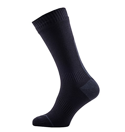 SealSkinz SEALSKINZ 100 Percent Waterproof, Windproof and Breathable - Mid Length Sock, Water Barrier in Cuff, Suitable for Cycl