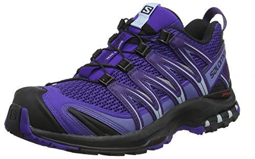 Salomon Damen XA Pro 3D W, Trailrunning-Schuhe, Blau (Deep Blue/Parachute Purple/Black), Größe 40 2/3 EU
