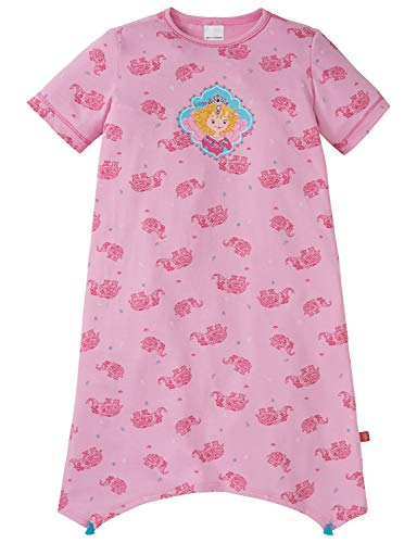 Schiesser Mädchen Prinzessin Lillifee Nachthemd, Rot (Rosa 503), 98 (Herstellergröße: 098) -