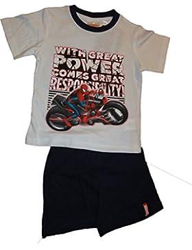 Marvel Spiderman Shorty-Schlafanzug in Weiss-Blau oder Blau-Rot in den Gr. 98, 104, 116, 128