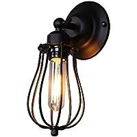 Splink Vintage Industrial Metal Applique da parete Lampada da parete a luce E27 Testa Mini (Lampada Da Parete Finita)